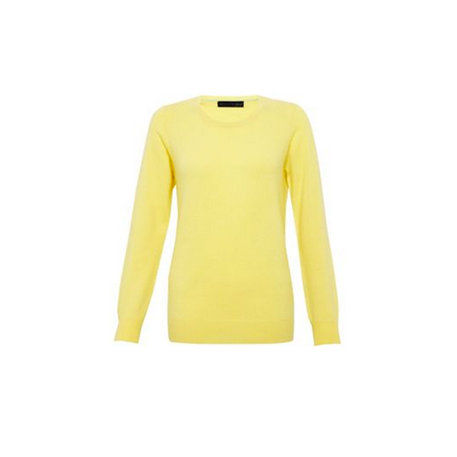 Jersey amarillo limón de cashmere