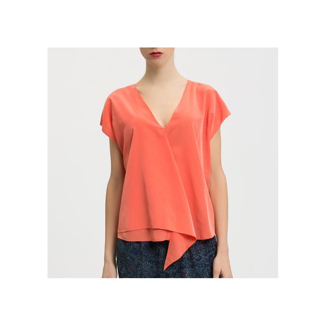 Camisa coral sin mangas