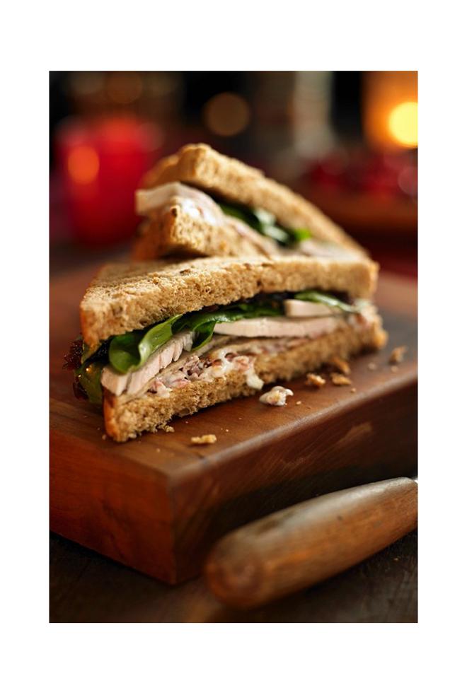 Sandwich de pavo con espinacas