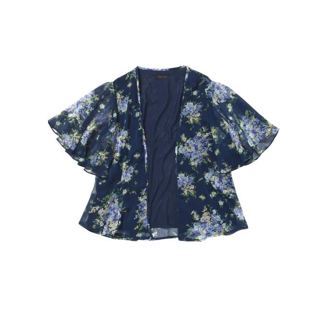 Kimono de flores azul