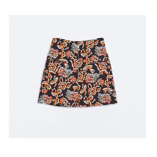 Minifalda con estampado floral