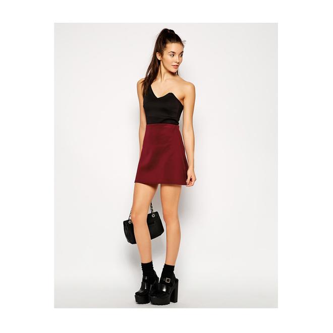 Talle De De De Alto Alto Talle Granate Granate Talle Minifalda Minifalda Alto Minifalda Granate Ev6w1q