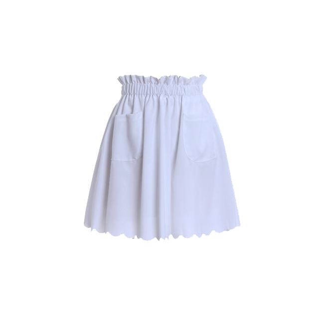 Skater skirt blanca
