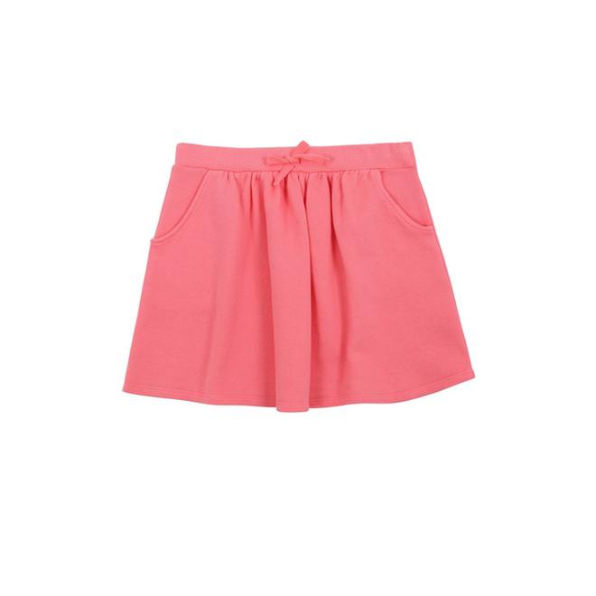 Falda rosa de algodón