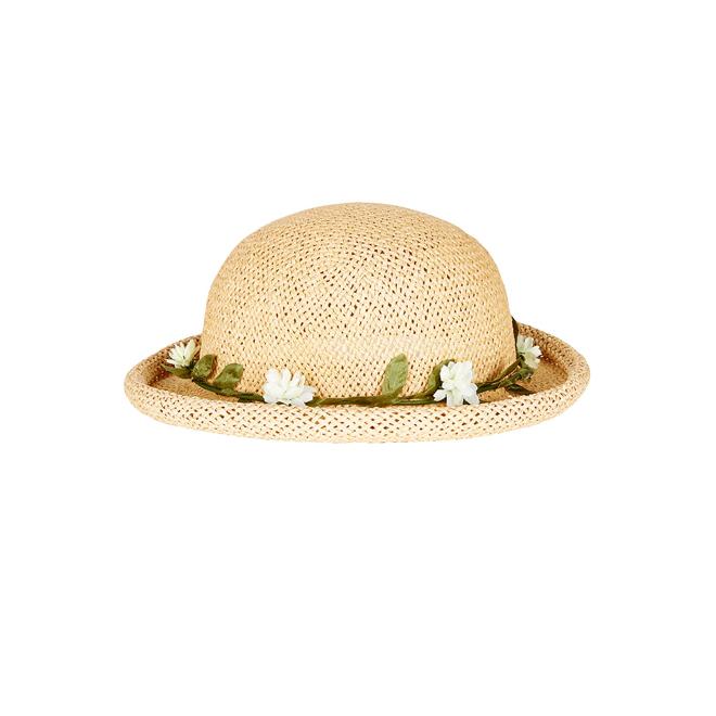 Bowler hat con flores