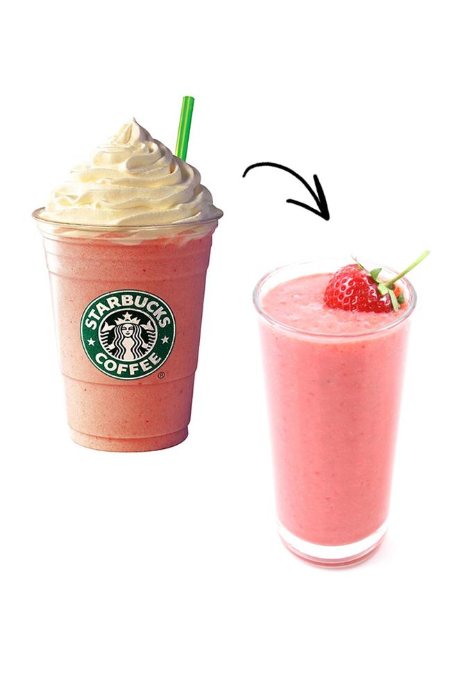Sustituye frapuccino por smoothie