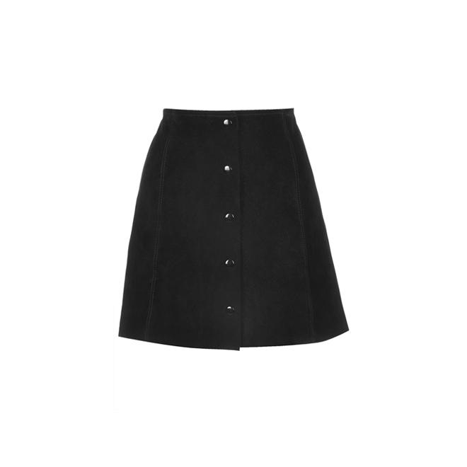 Falda de ante negra