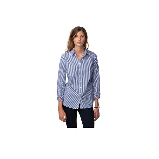 Camisa holgada de rayas