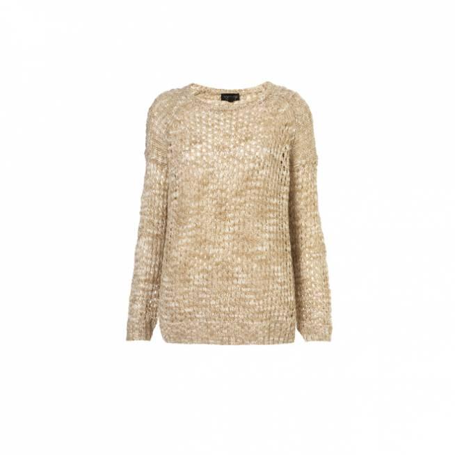 Suéter de tricot en beige
