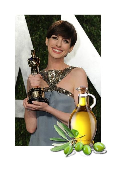 Anne Hathaway & Aceite de oliva