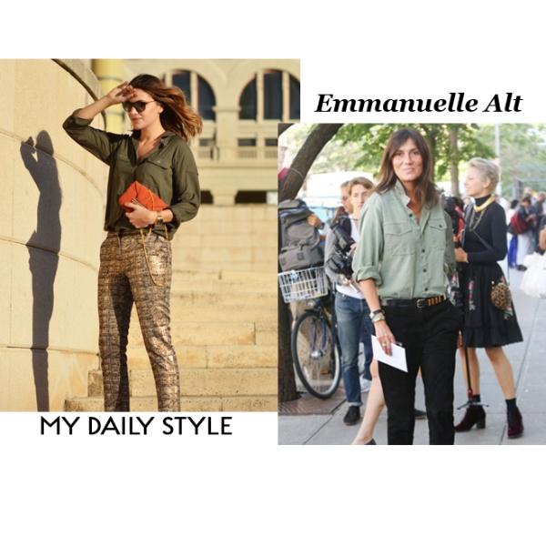 My daily style vs Emmanuelle Alt
