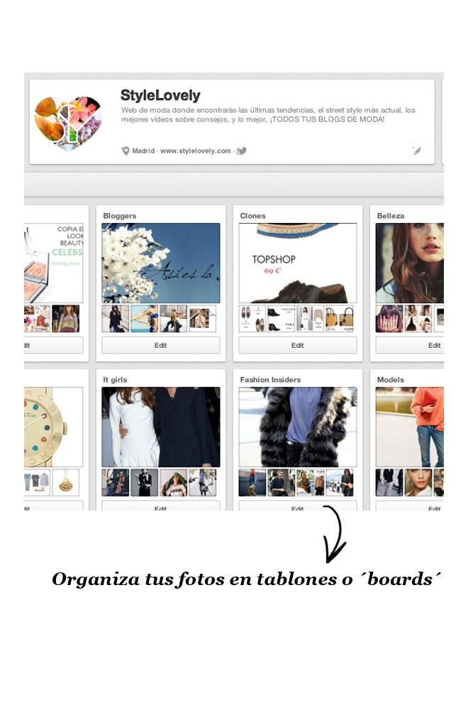Organiza tus fotos por tablones