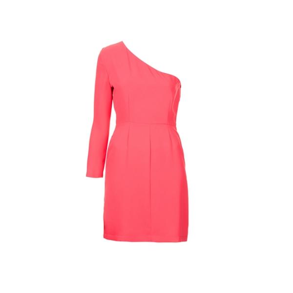 Vestido rosa asimétrico