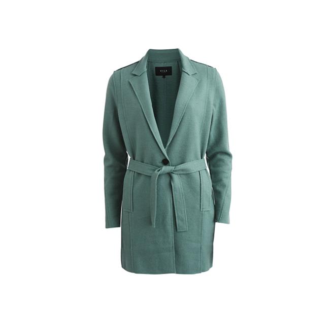 Abrigo de punto verde