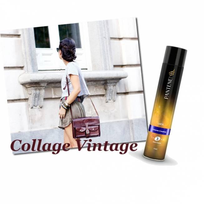 Collage Vintage & Moño con trenzas