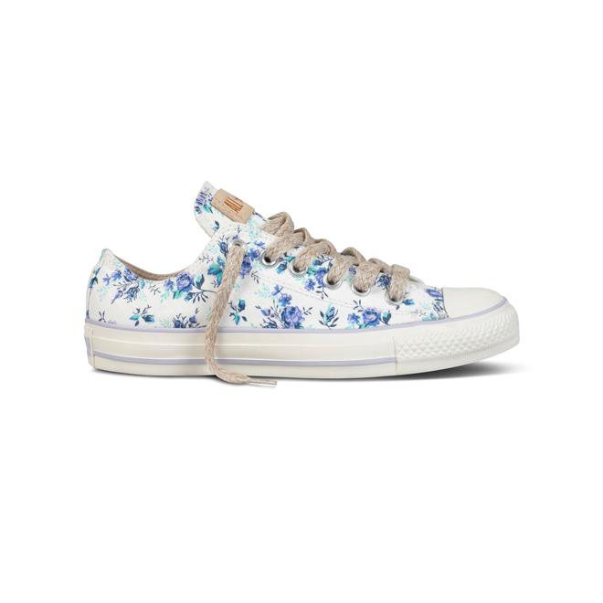 Zapatillas con estampado de flores