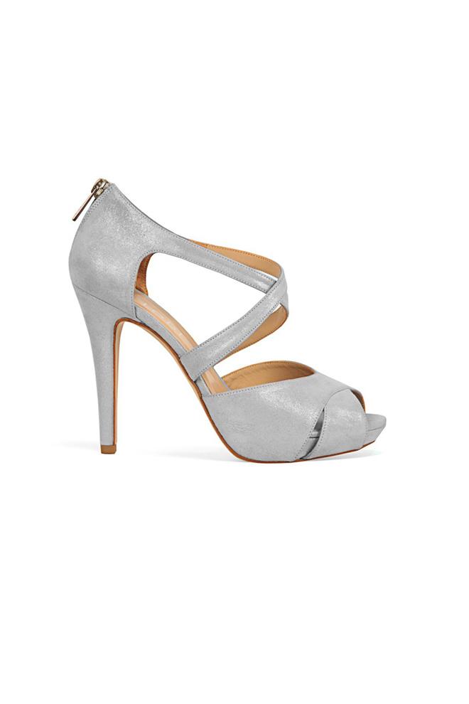 Sandalias peep toe en plata