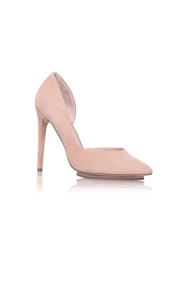 Stilettos de ante rosa