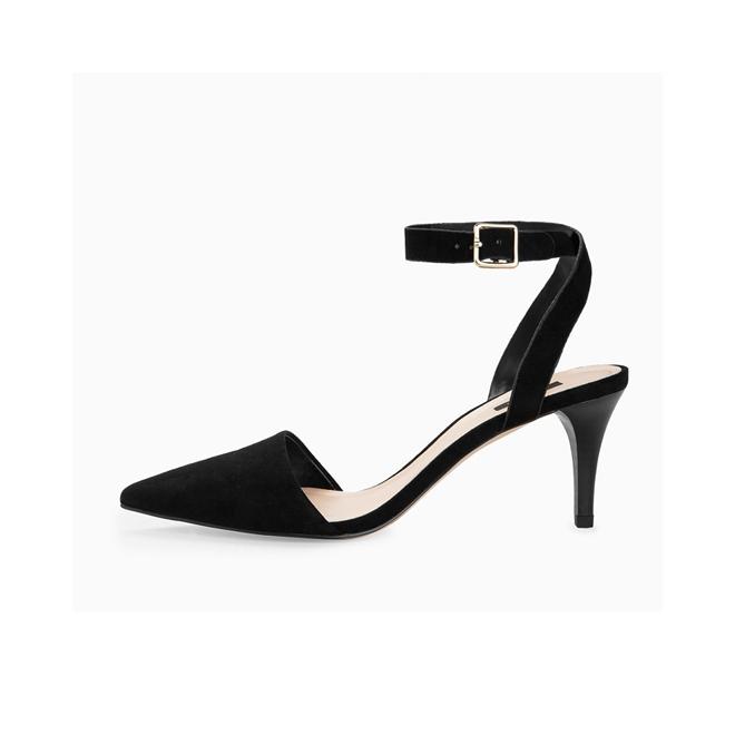 Zapatos de antelina con pulsera