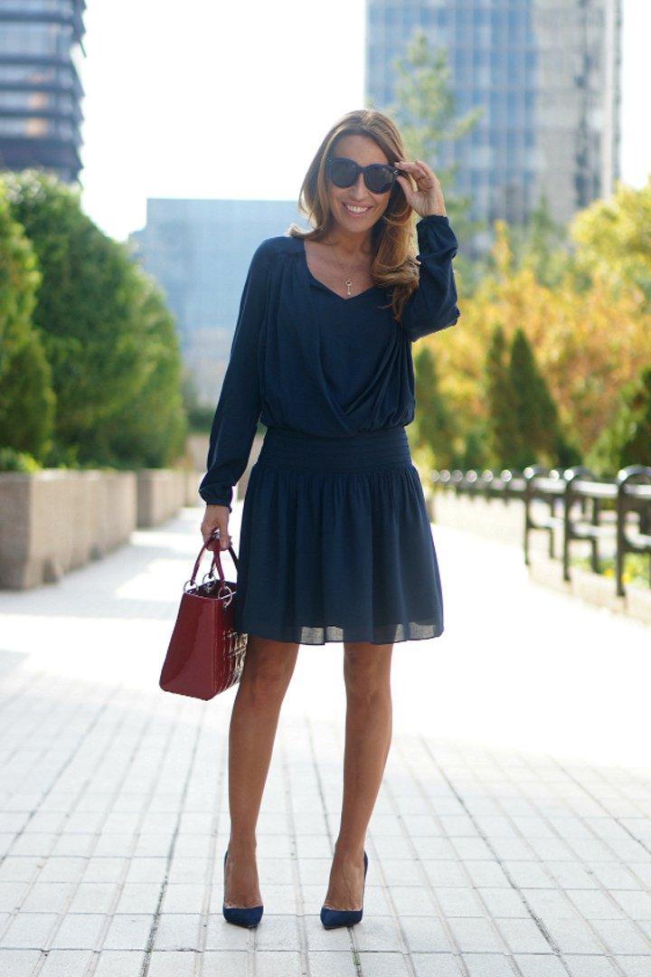 street style, navy blue