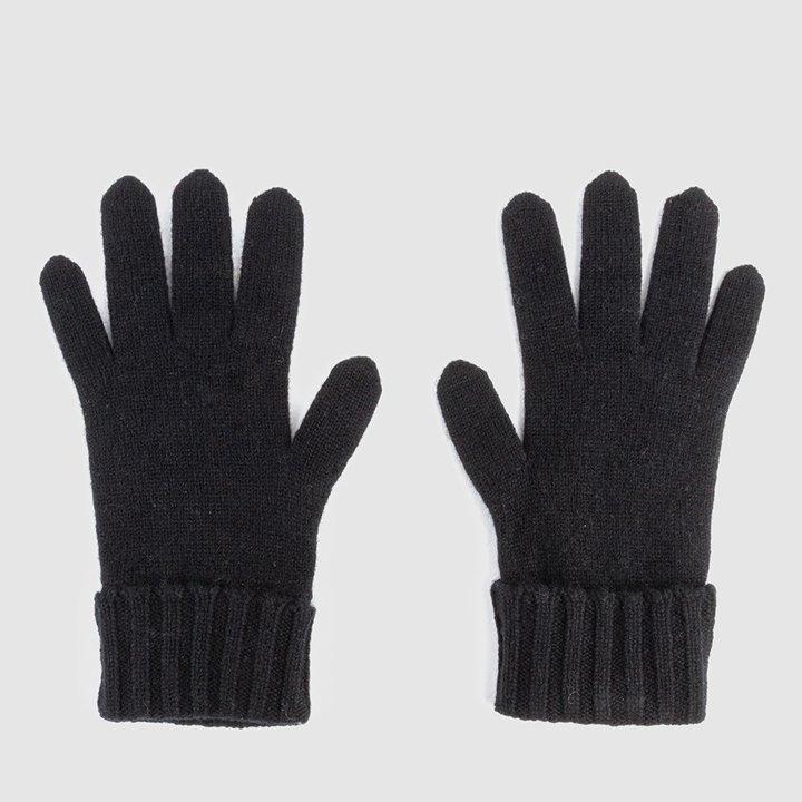 Guantes de color negro de cashmere: piezas de cashmere