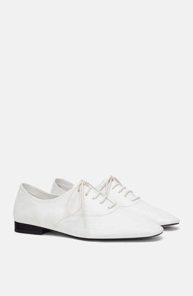 nuevo de zara zapatos blancos