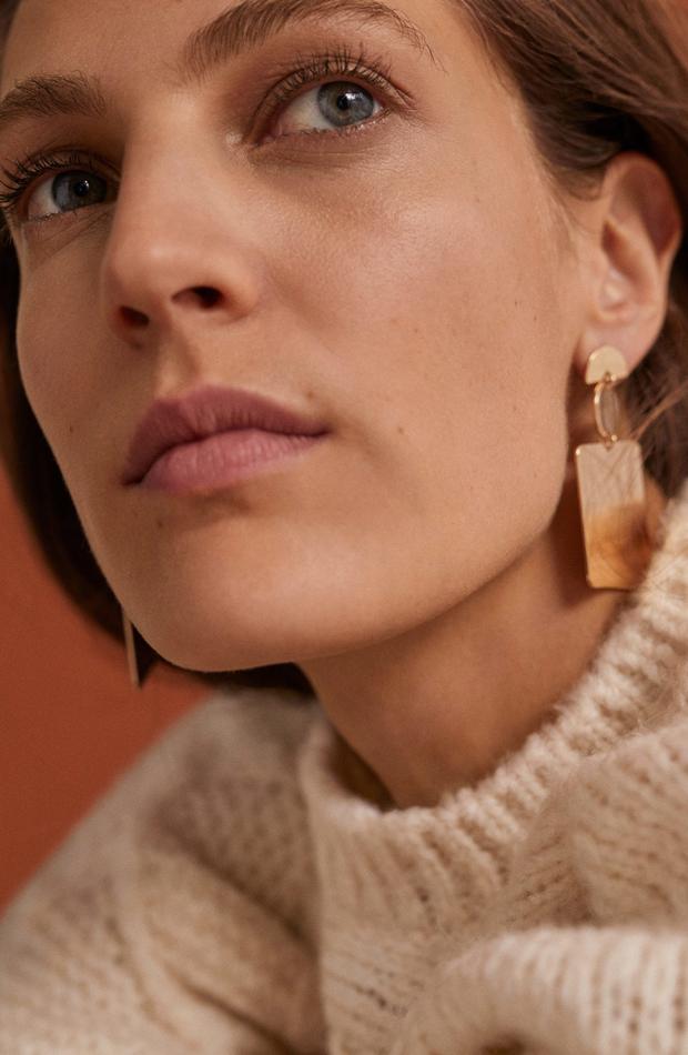 Pendientes colgantes metálicos: picando en nueva temporada