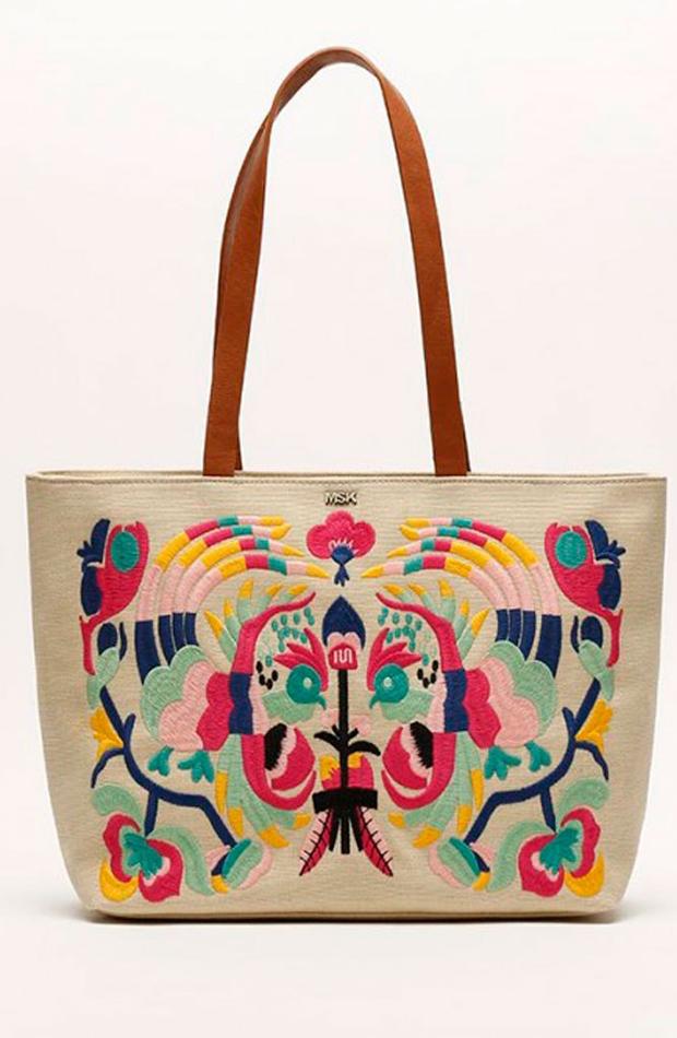 Shopper con bordados de colores: bolsos verano y oficina