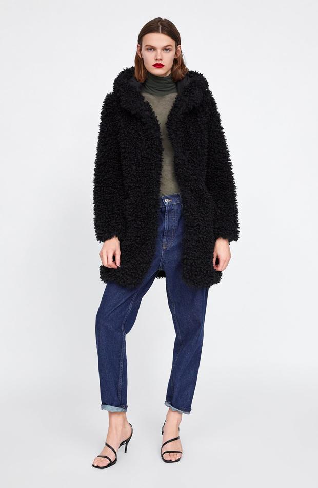 nuevo de zara abrigo pelo