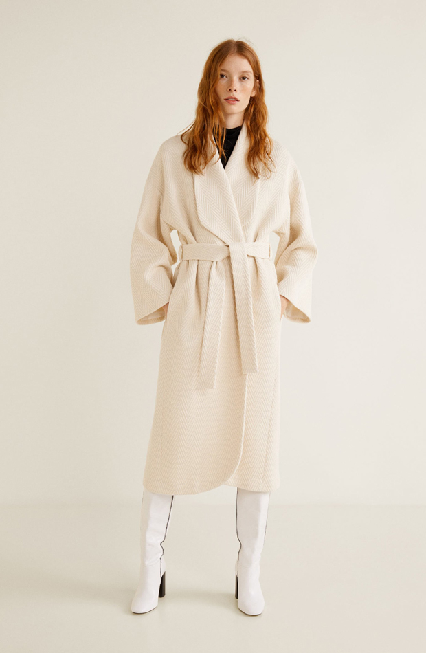 Abrigo lana espiga: picando en nueva temporada