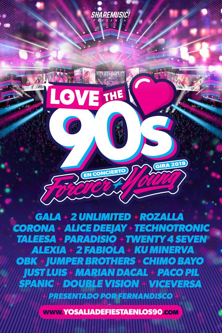 Love the 90's: agenda junio 2018