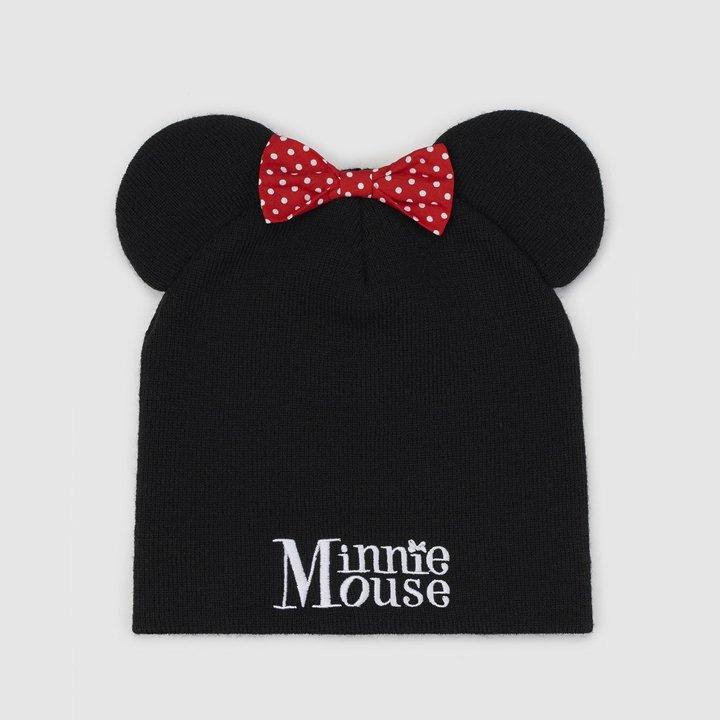 Gorro de punto con detalle de Minnie Mouse de Bioworld: complementos para el pelo