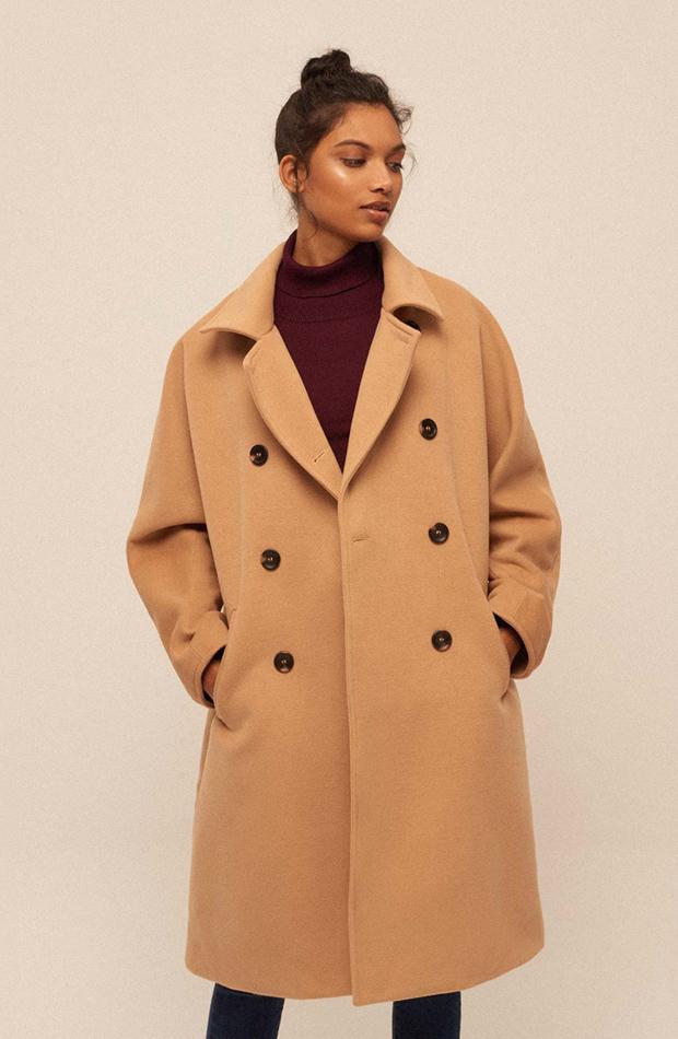 Abrigo oversize de color camel de Amichi: prendas estilo María Fernández-Rubíes