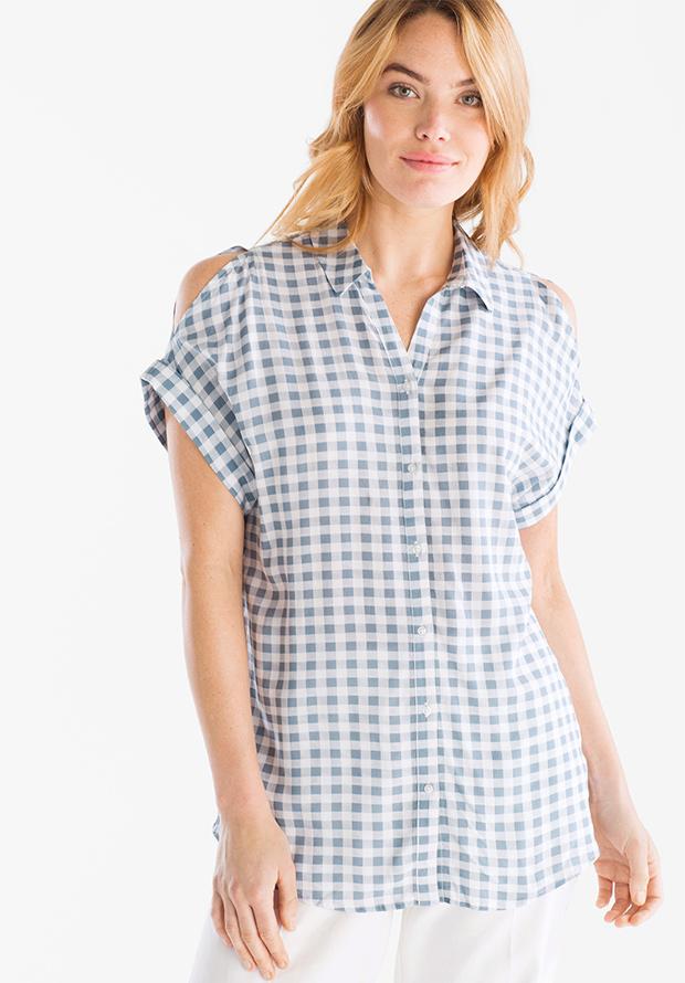 Camisa de C&A de estampado de cuadros vichy