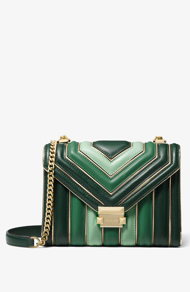 Bolso de hombro Whitney de piel tricolor acolchada de Michael Kors: prendas estilo María Fernández-Rubíes