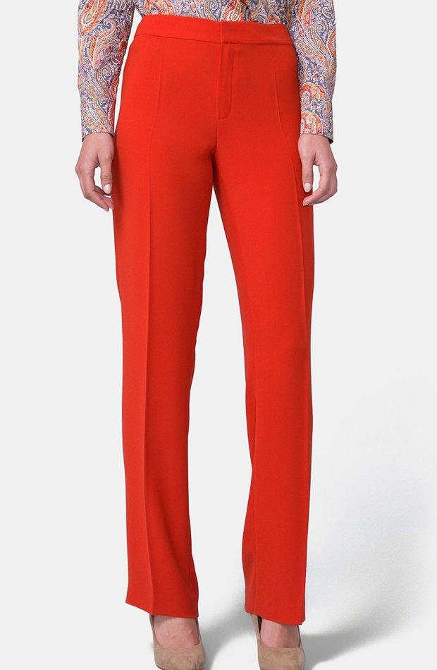 Pantalón básico de tipo recto de Mirto: prendas colores ácidos