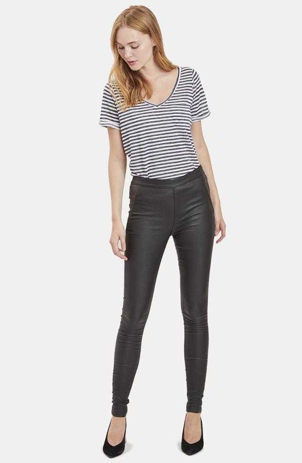 Leggin negro con cierre de cremallera de Object: prendas estilo María Fernández-Rubíes