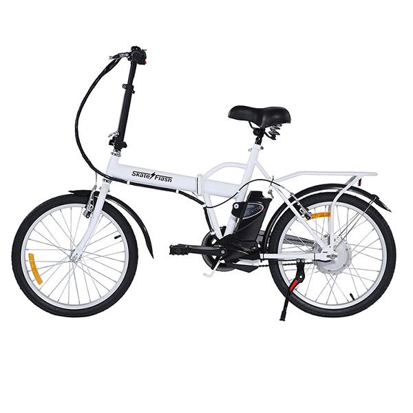 Bici blanca eléctrica de Primeriti