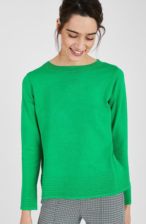 Jersey de manga larga en verde de Trucco: prendas colores ácidos