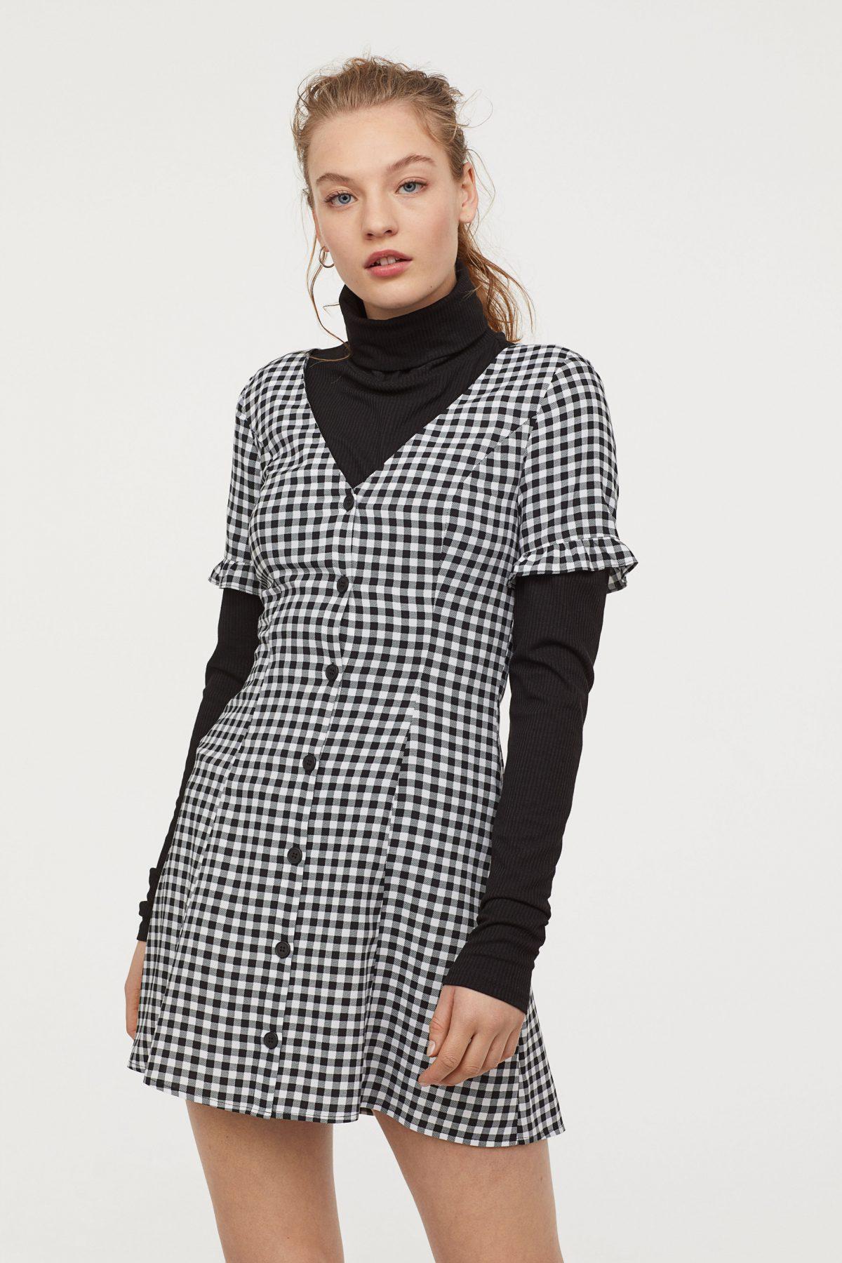 Vestido de H&M de estampado de cuadros vichy