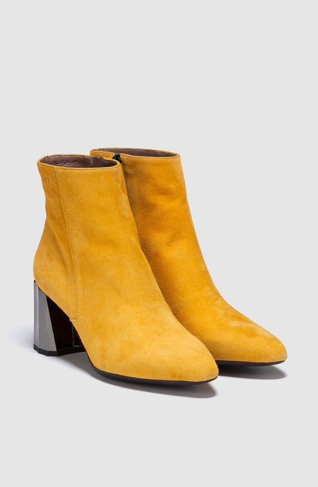 Botines de piel en color amarillo de Wonders: prendas colores ácidos