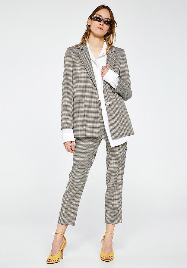 Traje de chaqueta de primavera de cuadros de Sfera