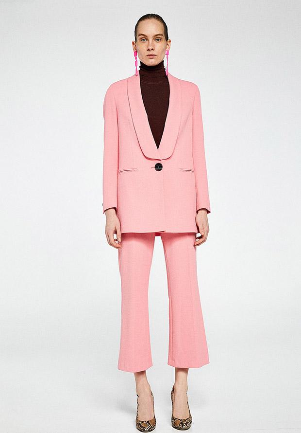 Traje de chaqueta de primavera en color rosa de Sfera