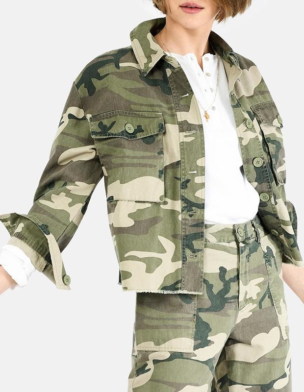 Cazadora estampada de estilo militar