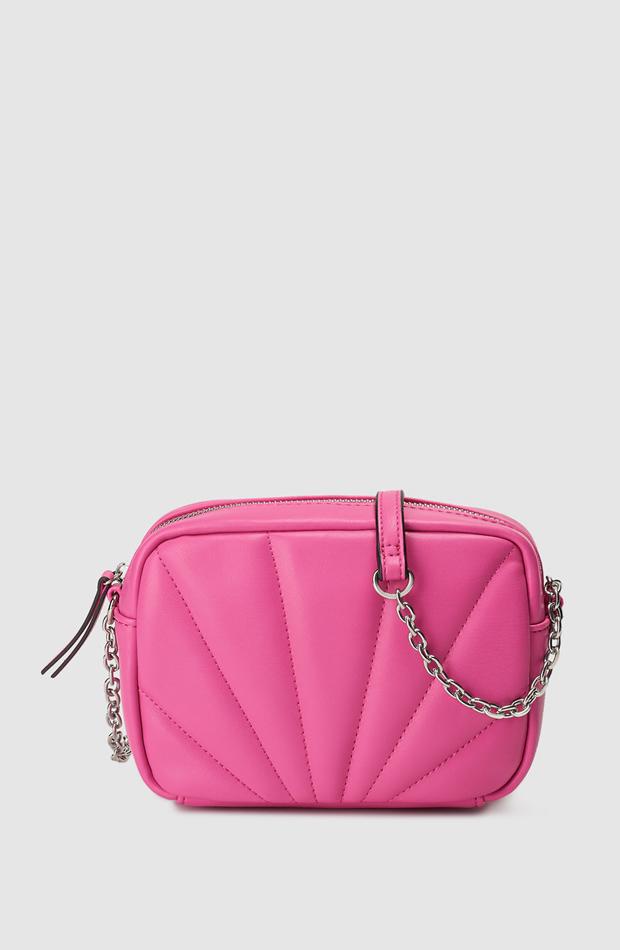 Bandolera mini acolchada en fucsia de El Corte Inglés: prendas rosa