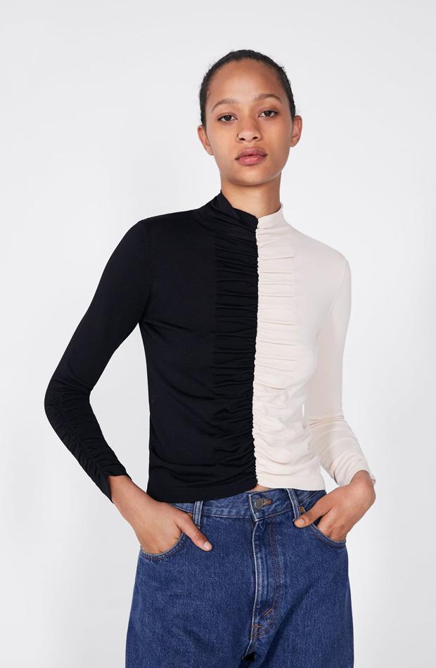 Jersey color block: piezas de Zara que Rocío Osorno tiene en su armario