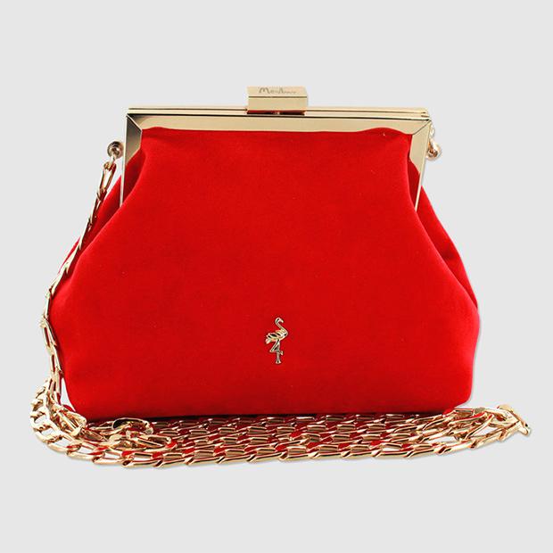 Mini bolso rojo con cadena