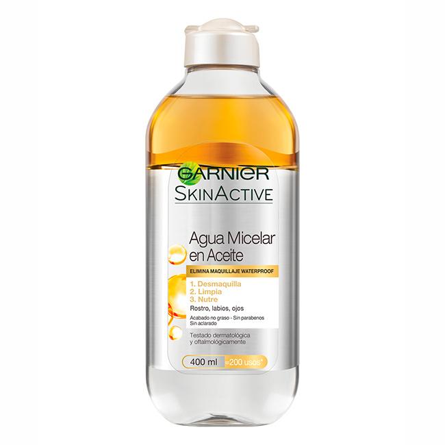 Los mejores productos para la limpieza facial: Agua micelar de Garnier