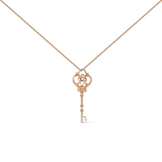 Colgante con forma de llave de la colección Grandes esperanzas de Suárez