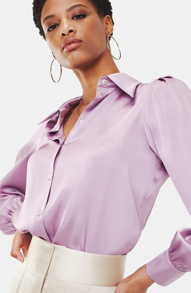 Blusa lila de Tommy X Zendaya: looks para ir al teatro